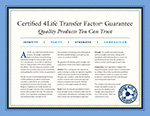4Life Transfer Factor Certification